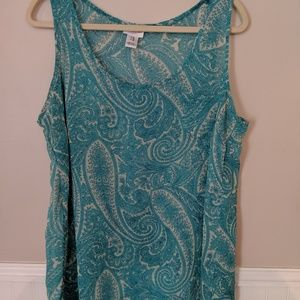 See through Paisley maternity top